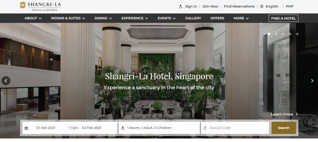 Shangri La Top Hotels in Singapore