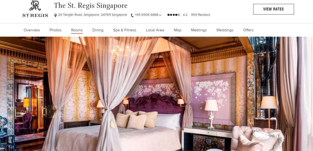 St. Regis Top Hotels in Singapore