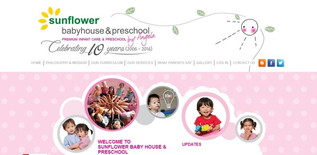 Sunflower Baby HOuse & Preschool Top Preschools in Singapore