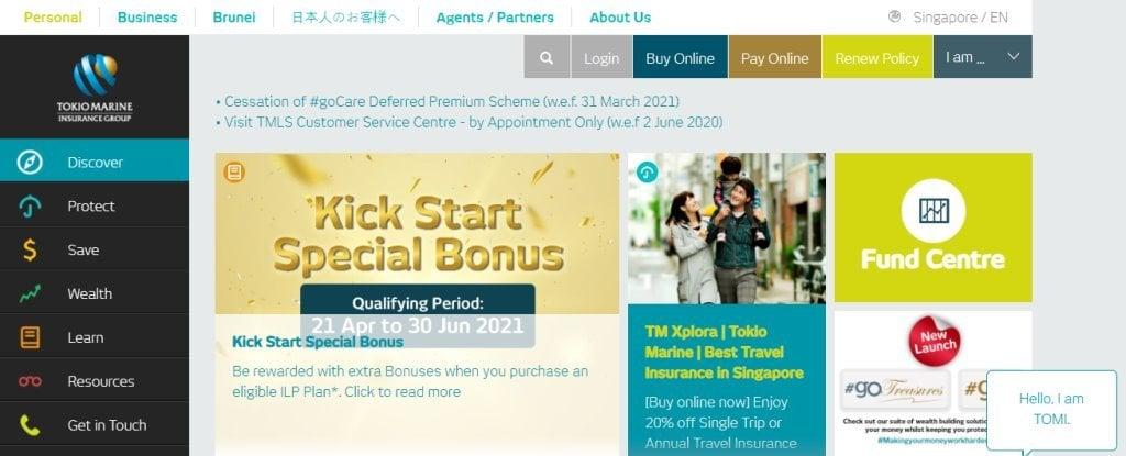 Tokio Marine Top Insurance Companies in Singapore