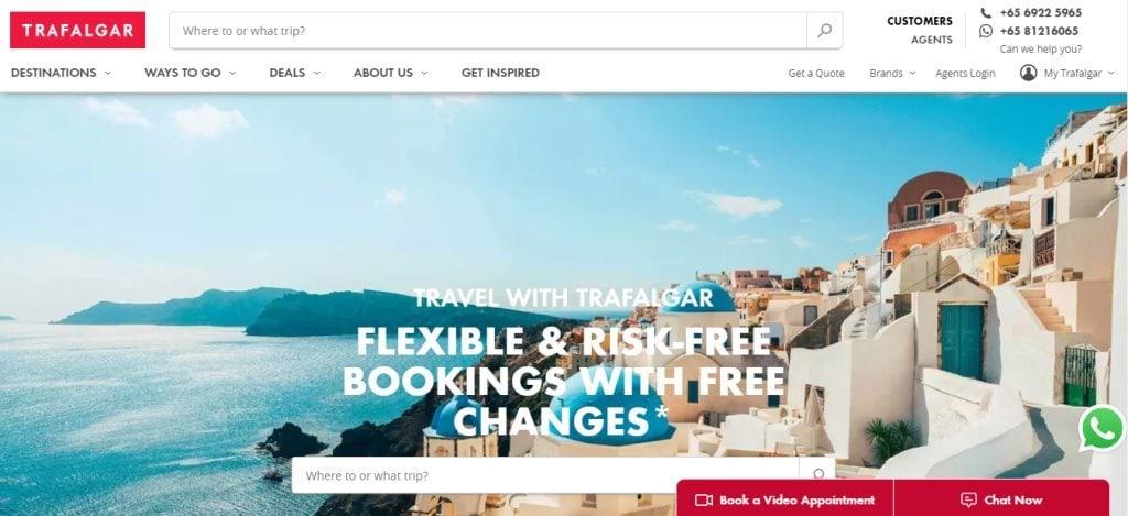Trafalgar Top Travel Agencies in Singapore