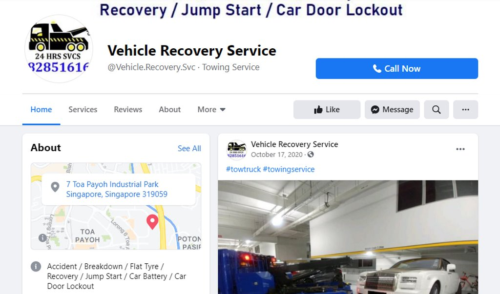 Vehicle Recovery Services Top Towing Services in Singapore