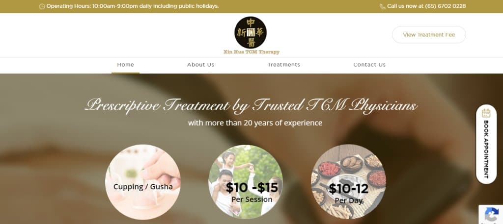Xin Hua Top Acupuncture Clinics In Singapore