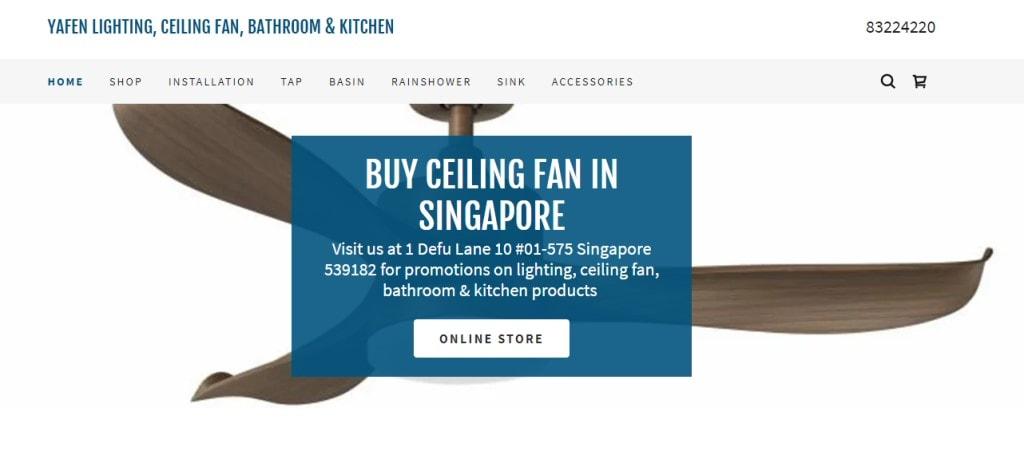 Yafen Top Ceiling Fan Retailers In Singapore