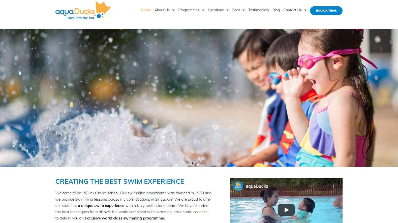 aqua ducks Top Swimming Schools in Singapore