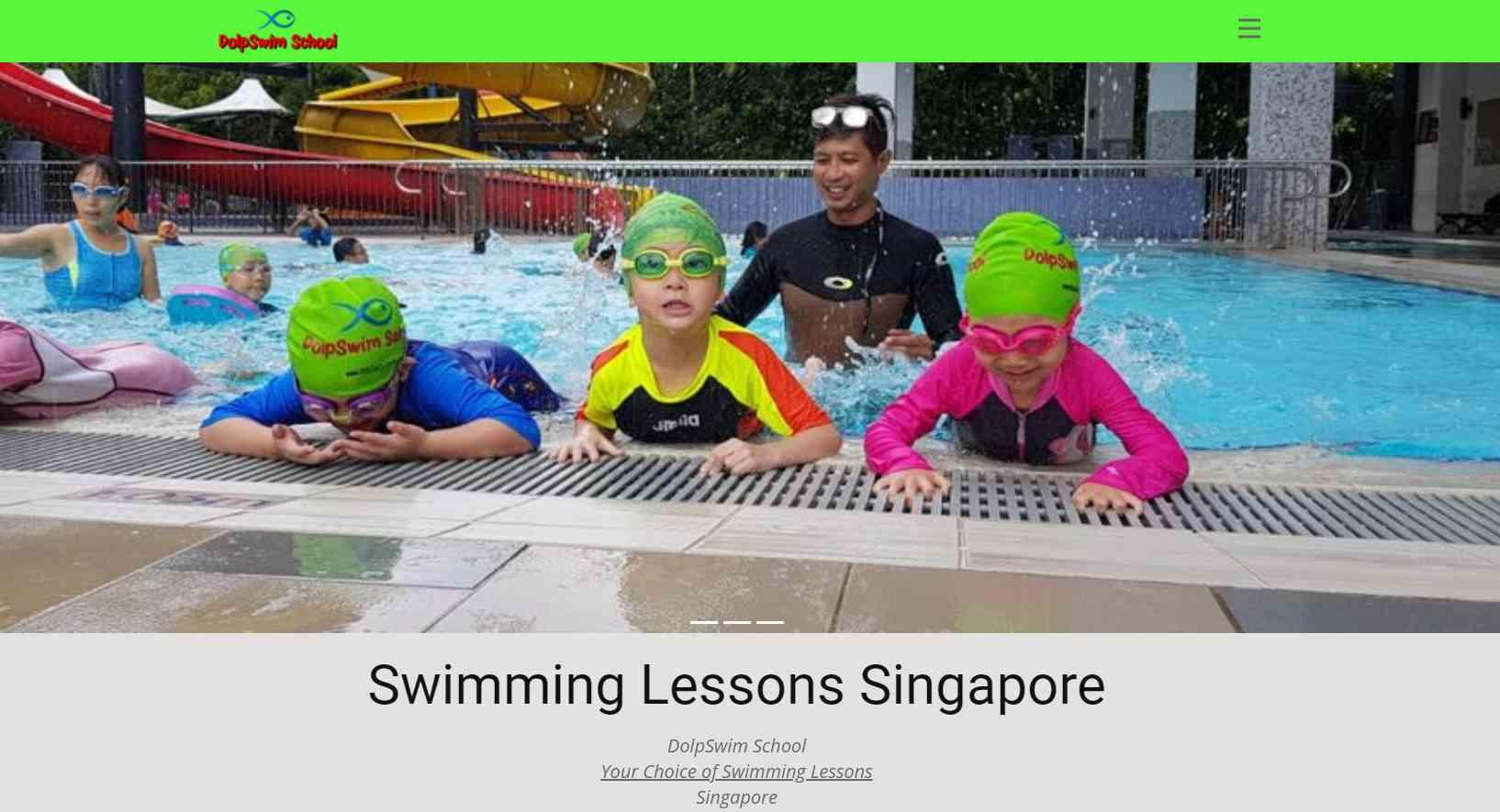 dolp swim Top Swimming Schools in Singapore