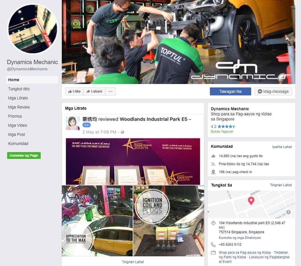 dynamics mechanics Top Car Servicing Workshops in Singapore