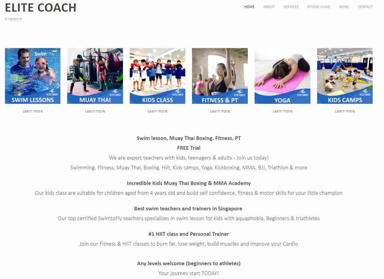 elite coach Top Swimming Schools in Singapore