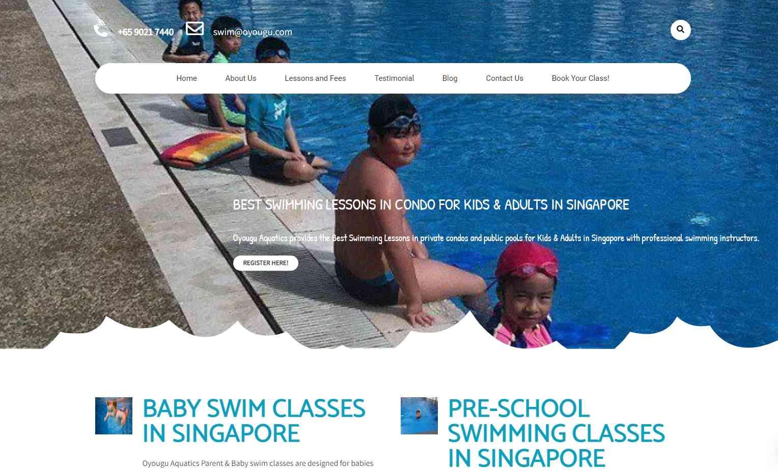 o you gu Top Swimming Schools in Singapore