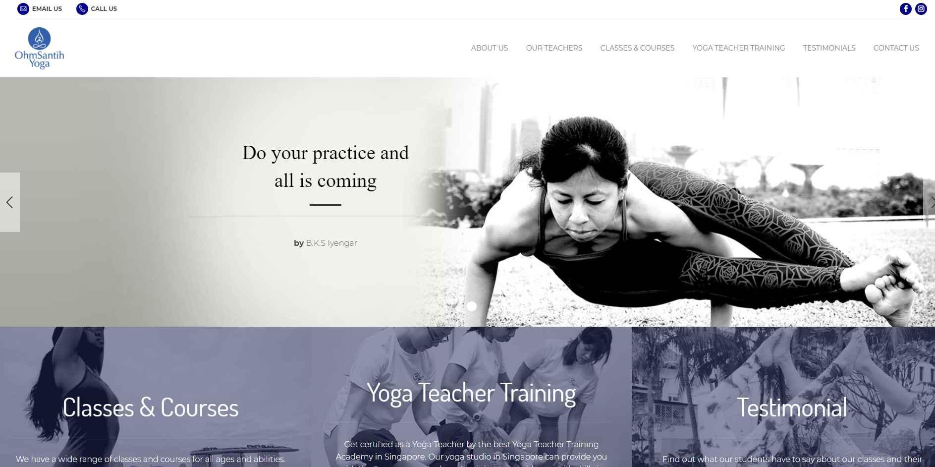 ohm santih yoga Top Yoga Studios in Singapore