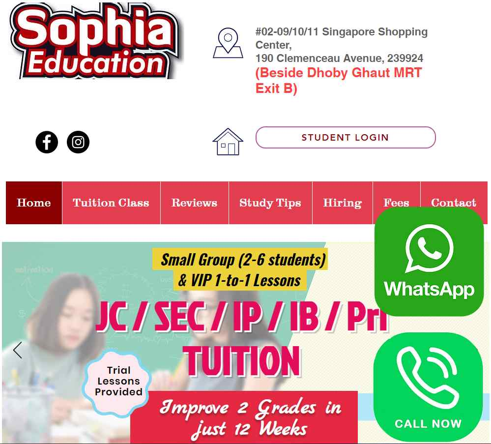 sophia education Top Physics Tuition in Singapore