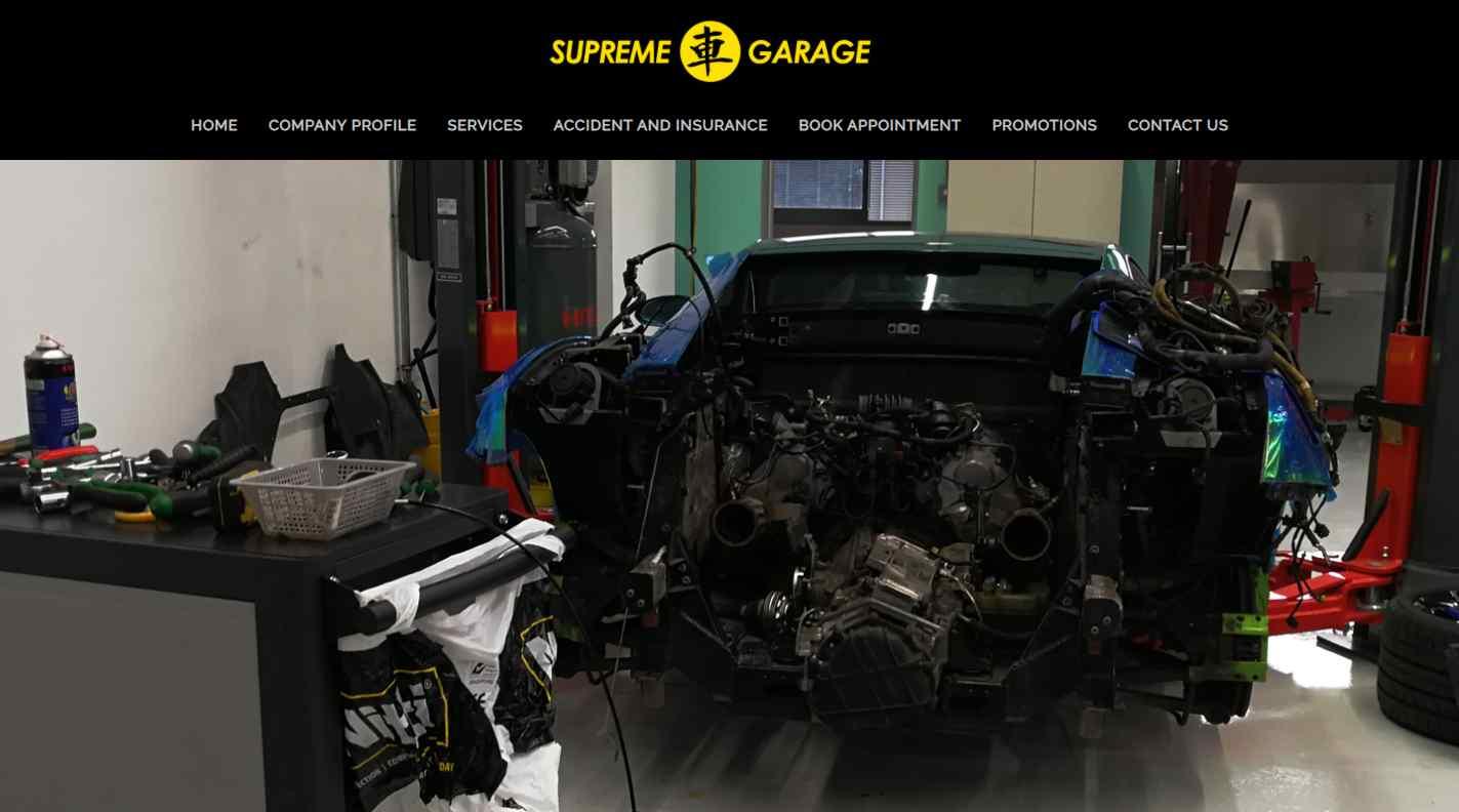 supreme garage Top Car Servicing Workshops in Singapore