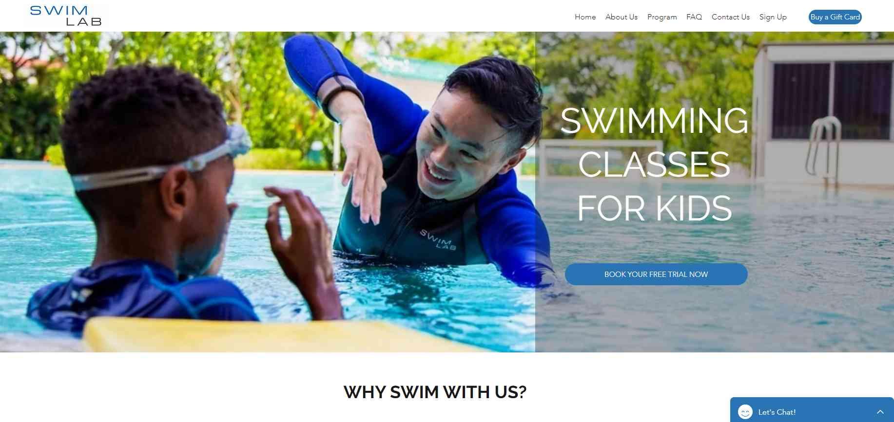 swim lab Top Swimming Schools in Singapore