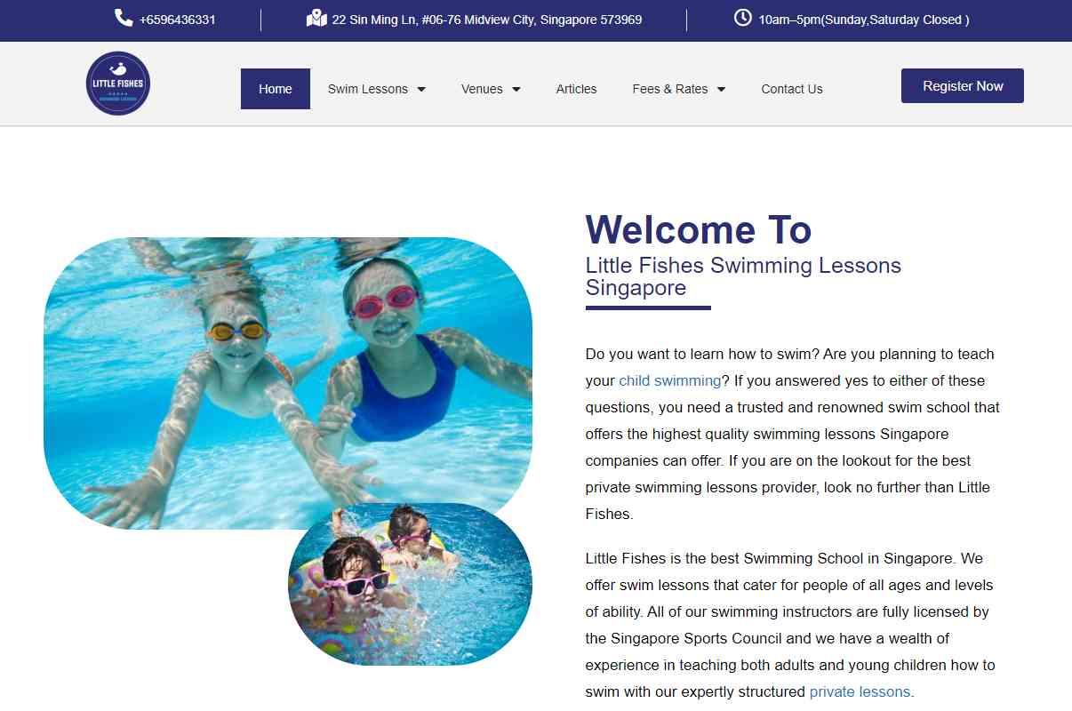 swim lessons Top Swimming Schools in Singapore