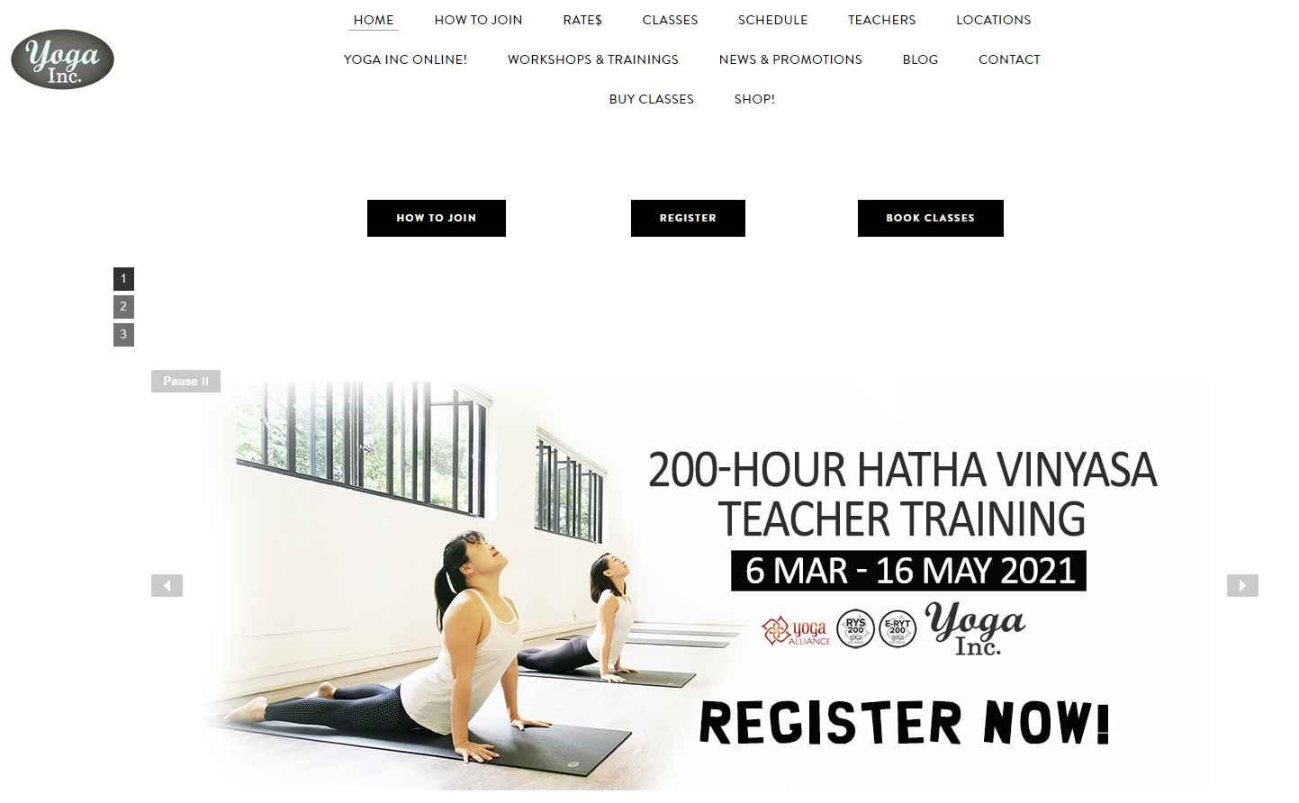 yoga inc Top Yoga Studios in Singapore