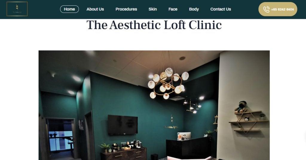 Aesthetic Loft Top Aesthetic Clinics in Singapore