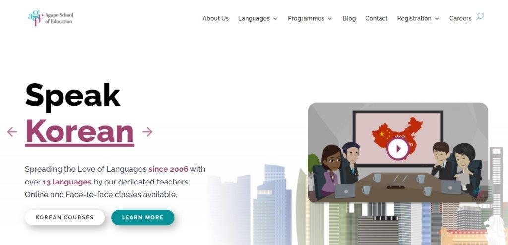 Agape School Top Korean Language Schools in Singapore