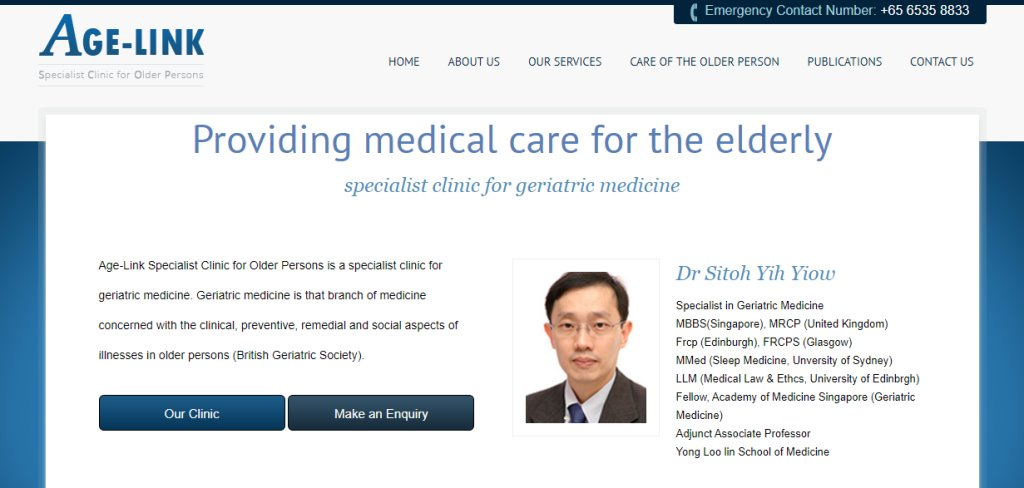 Age-Link Top Geriatric Care Services in Singapore