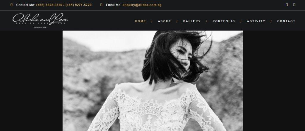 Alisha Top Wedding Dress Stores in Singapore