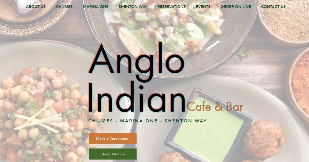 Anglo Indian Top Indian Restaurants in Singapore