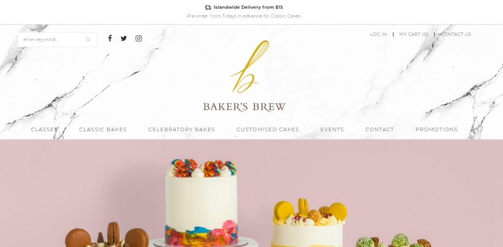 Baker's Brew Top Cooking Classes in Singapore