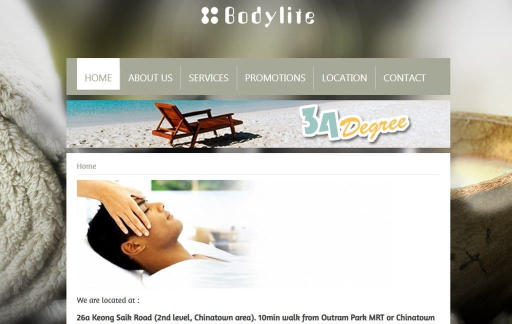 Body Lite Top Men Spas In Singapore