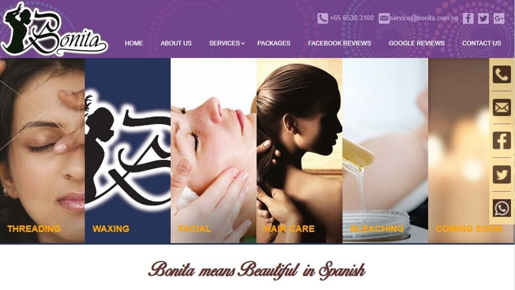 Bonita Top Waxing Salons In Singapore