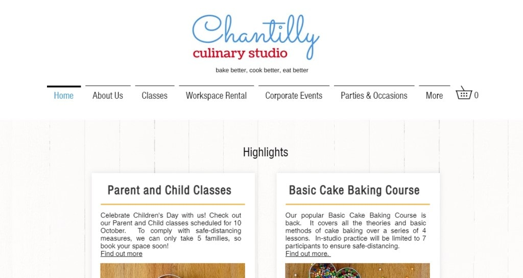Chantilly Studio Top Cooking Classes in Singapore