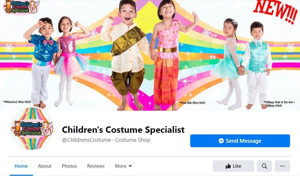 Children's Costume Specialist Top Costume Rentals in Singapore