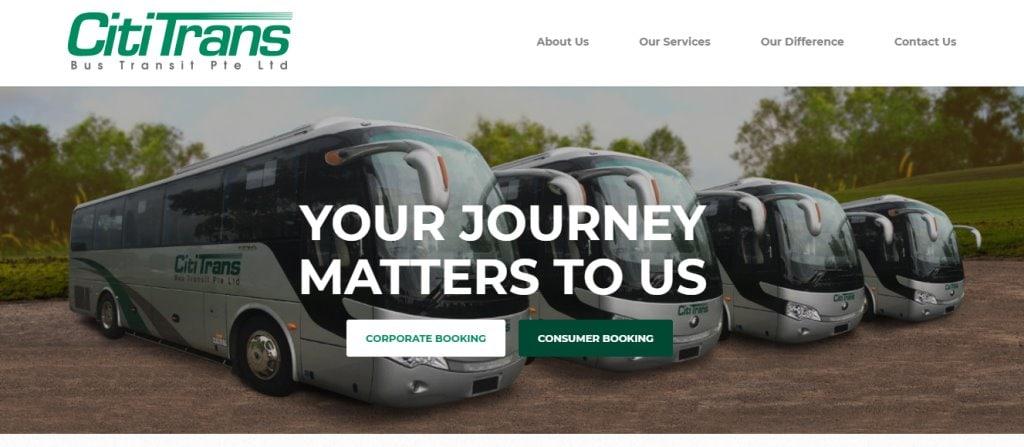 Citi TRans Top Bus Charter Rental in Singapore