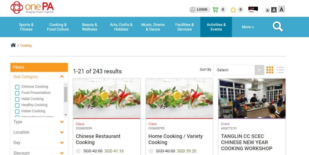 Community Centers Top Cooking Classes in Singapore