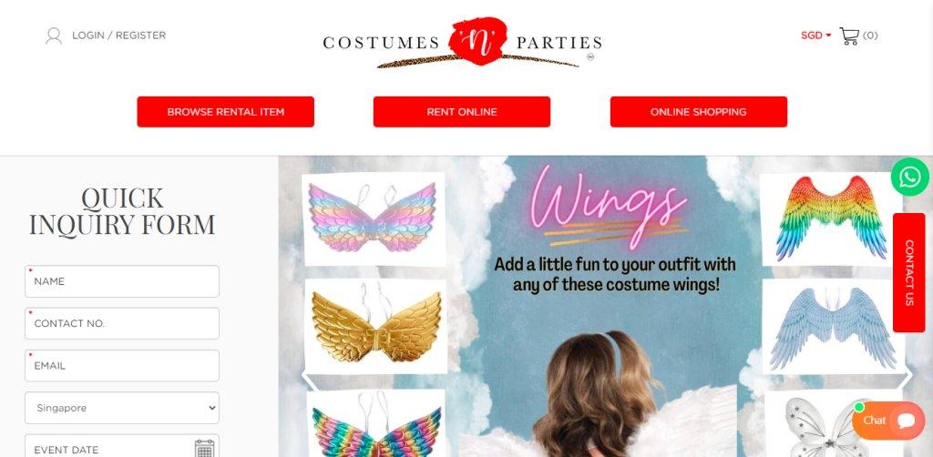 Costumes n Parties Top Costume Rentals in Singapore