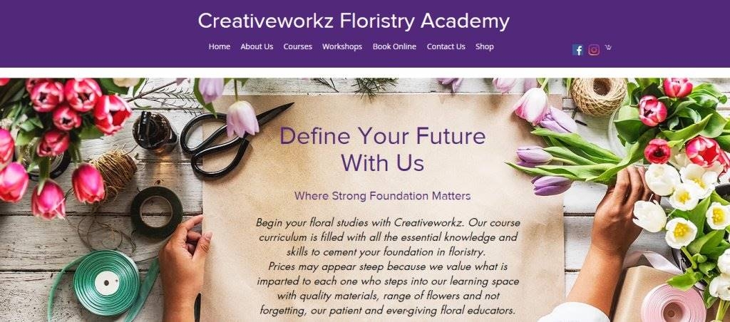 Creativeworkz Floristy Top Flower Arrangement Classes in Singapore