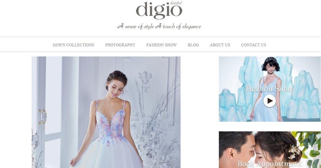 Digio Top Wedding Dress Stores in Singapore