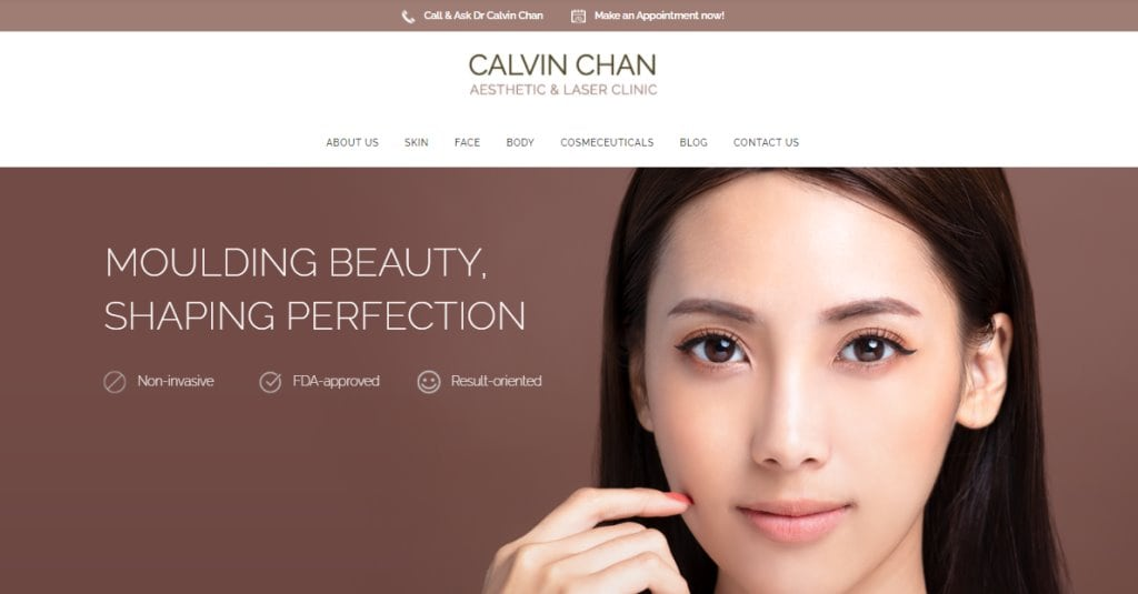 Dr Calvin Chan Top Aesthetic Clinics in Singapore