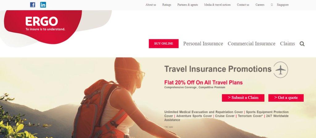Ergo Top Travel Insurance in Singapore