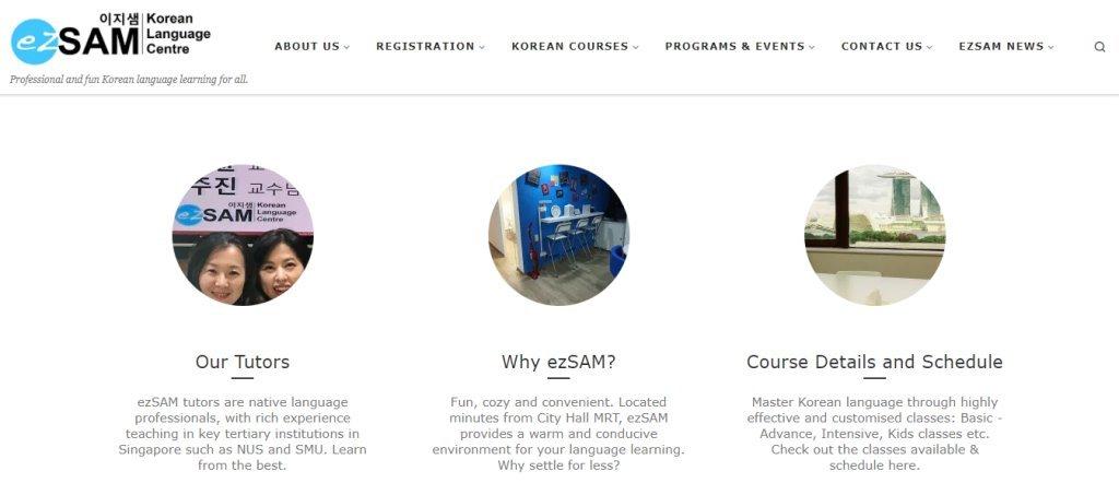 EzSam Top Korean Language Schools in Singapore