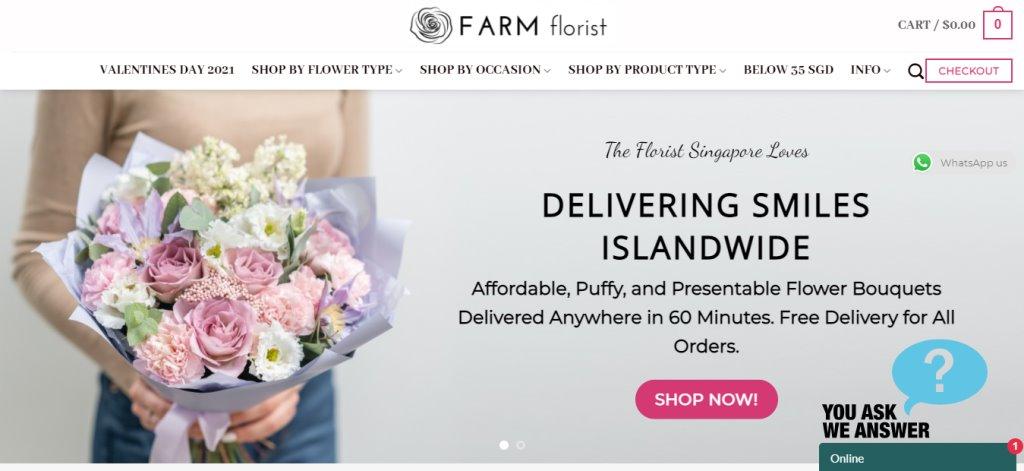 Farm Florists Top Florists in Singapore