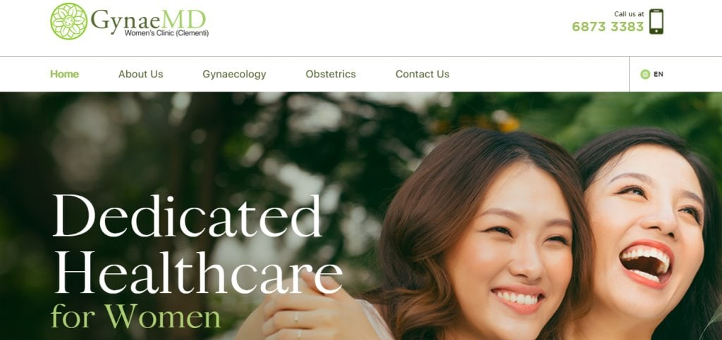 Gynae MD Top Women's Clinics in Singapore