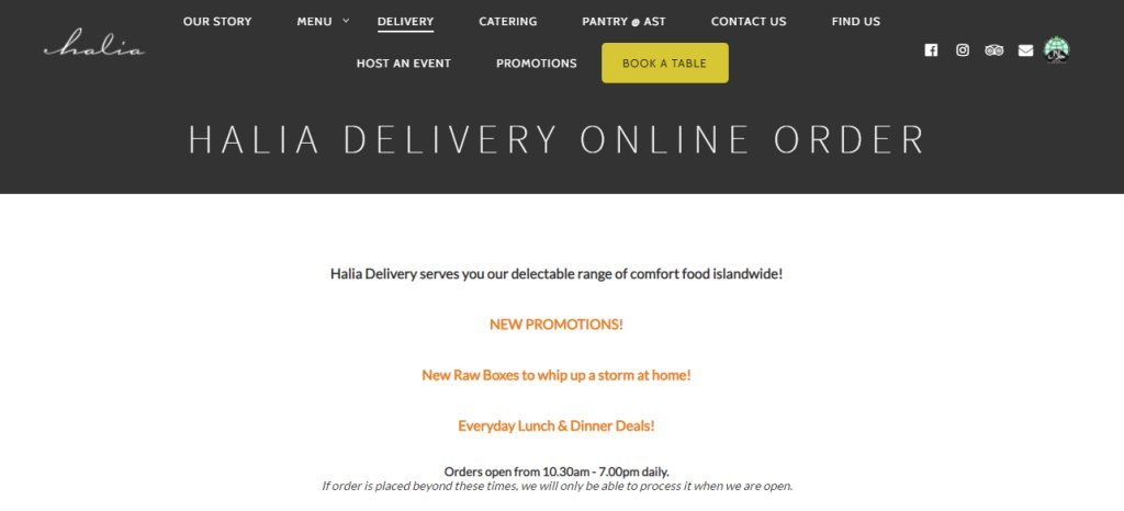 Halia Top Food Caterers in Singapore