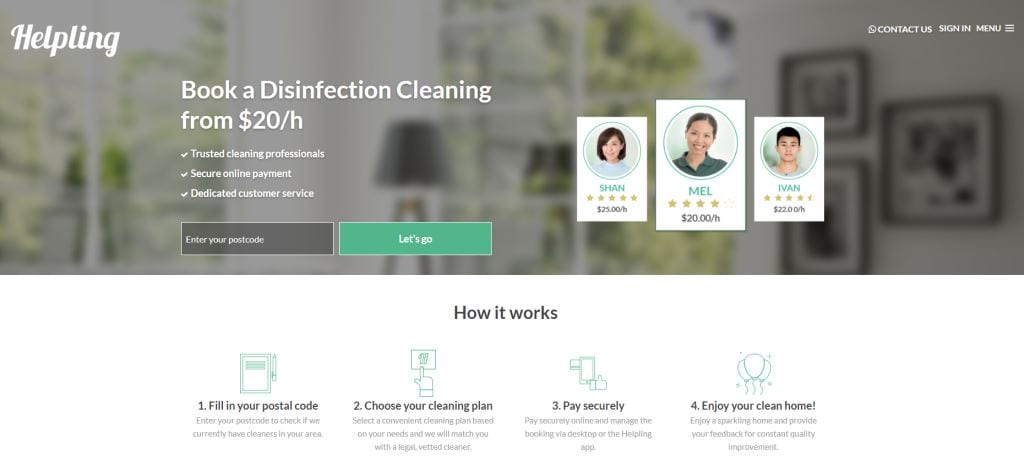 Helpling Top Cleaning Services in Singapore
