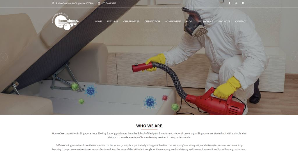 Home Cleanz Top Cleaning Services in Singapore