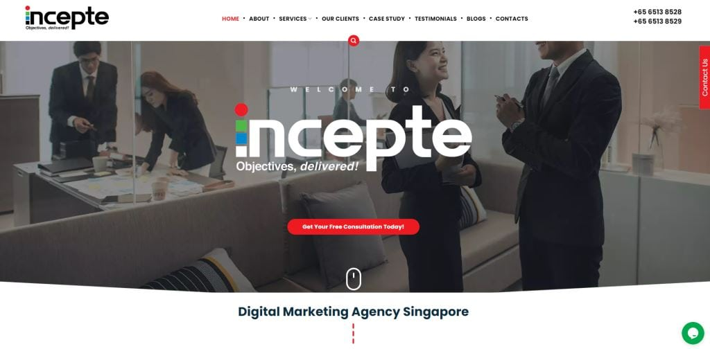 Incepte 70 Top Web Design Agencies In Singapore