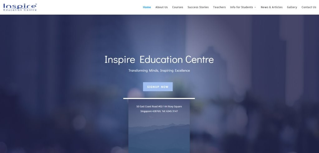 Inspire Education Center Top Humanities Tuition Centres in Singapore
