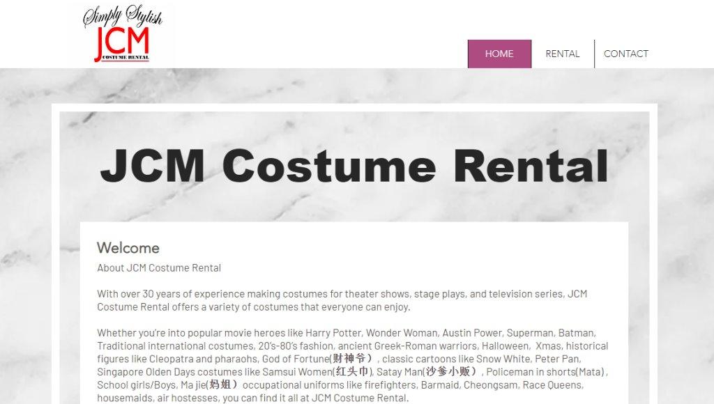 JCM Top Costume Rentals in Singapore