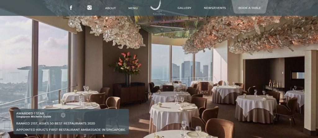 Jaan Top Fine Dining Restaurants in Singapore