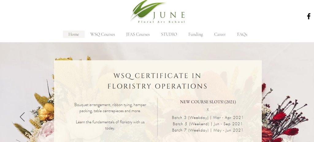 June Top Flower Arrangement Classes in Singapore