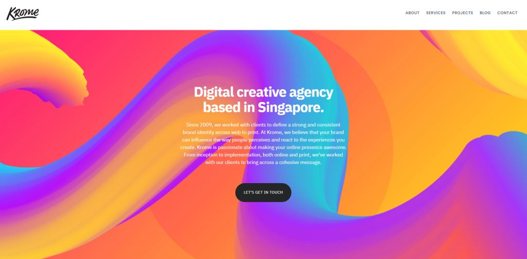 Krome 70 Top Web Design Agencies In Singapore