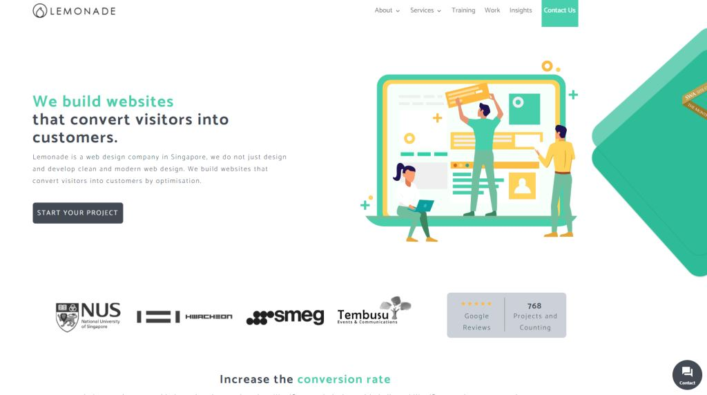 Lemonade 70 Top Web Design Agencies In Singapore