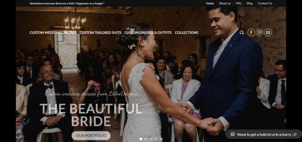 Liiloo design Top Wedding Dress Stores in Singapore